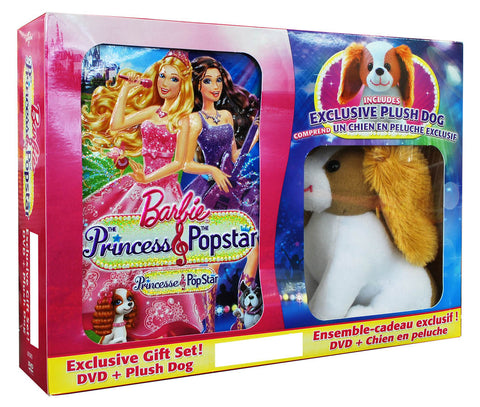 Barbie: The Princess & The Popstar (with plush dog)(Boxset)(Value Gift Set) DVD Movie