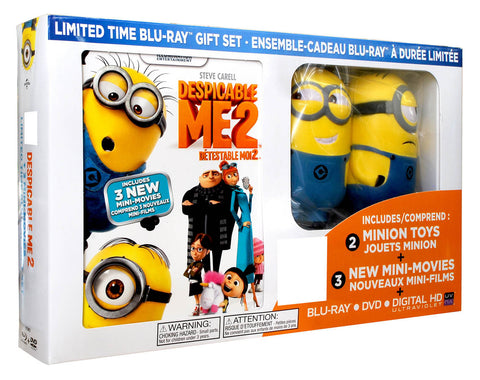 Despicable Me 2 (with 2 Minion Toys)(Value Gift Set)(Blu-ray) BLU-RAY Movie