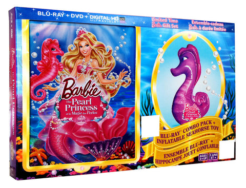 Barbie: The Pearl Princess (Blu-ray+DVD)(with Inflatable Seahorse)(Boxset)(Blu-ray)(Value Gift Set) BLU-RAY Movie