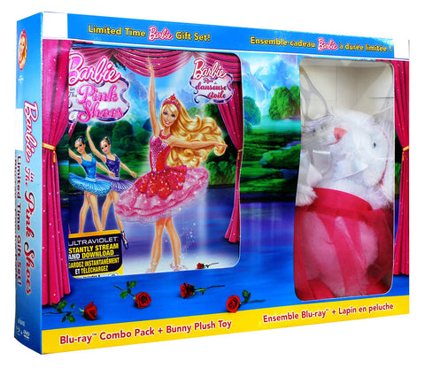 Barbie: The Pink Shoes (with Bunny Plush)(Blu-ray+DVD) (Blu-ray)(Value Gift Set) (Boxset) BLU-RAY Movie
