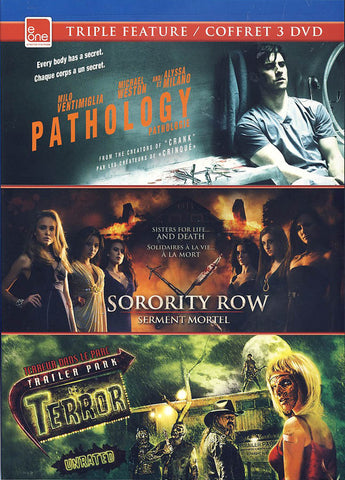 Pathology / Sorority Row / Trailer Park Of Terror (Triple Feature)(Bilingual) DVD Movie
