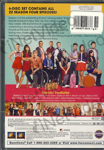 Glee - The Complete fourth Season DVD Movie