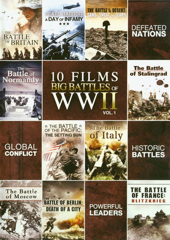 10-Film - Big Battles Of WWII DVD Movie