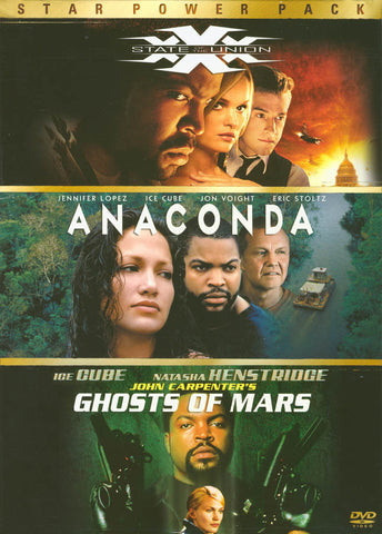 Xxx State of the Union / Anaconda / Ghosts of Mars (Boxset) DVD Movie