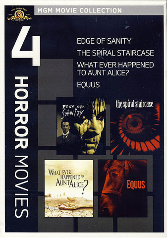 MGM 4 Horror Movies - The Edge of Sanity / The Spiral Staircase / Equus / Whatever Happened to Aunt DVD Movie