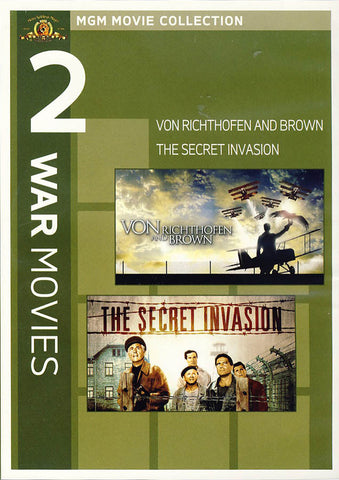 MGM 2 War Movies - Von Richthofen and Brown / The Secret Invasion DVD Movie