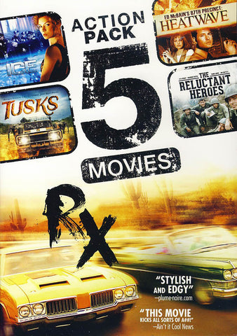 5-Movie Action Pack V.7: Tusks / The Reluctant Heroes / RX / Ice / Ed McBain's 87th Precinct: Heatwa DVD Movie