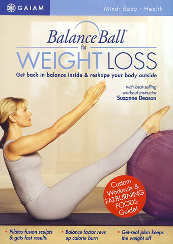 Balance Ball For Weight Loss (red circle cover) DVD Movie