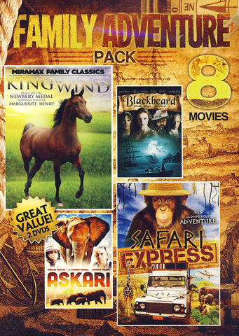 8 Movies - Family Adventure Pack (Value Movie Collection) DVD Movie
