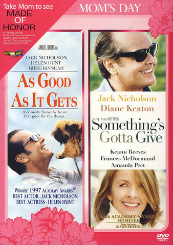 As Good As It Gets/Something's Gotta Give (Double Feature) DVD Movie
