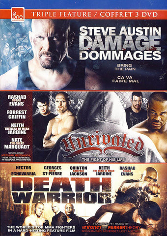 Damages/Unrivaled/Death Warrior (Triple Feature) DVD Movie