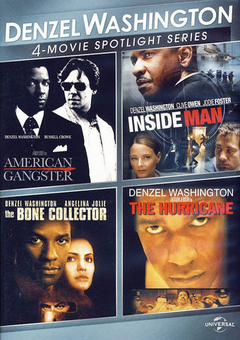 Denzel Washington 4-Movie Spotlight Series DVD Movie