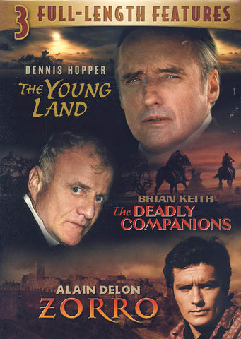The Young Land/The Deadly Companions/Zorro (Triple Feature) DVD Movie