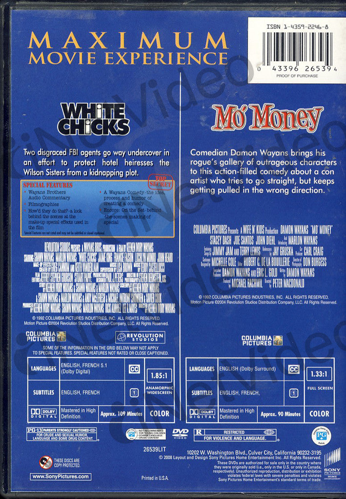 white chicks  mo u0026 39  money  double feature  on dvd movie