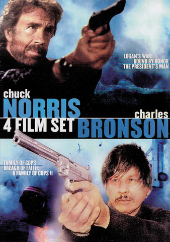 Chuck Norris / Charles Bronson (Logan s War / President s Man / Family of Cops / Breach of Faith) DVD Movie