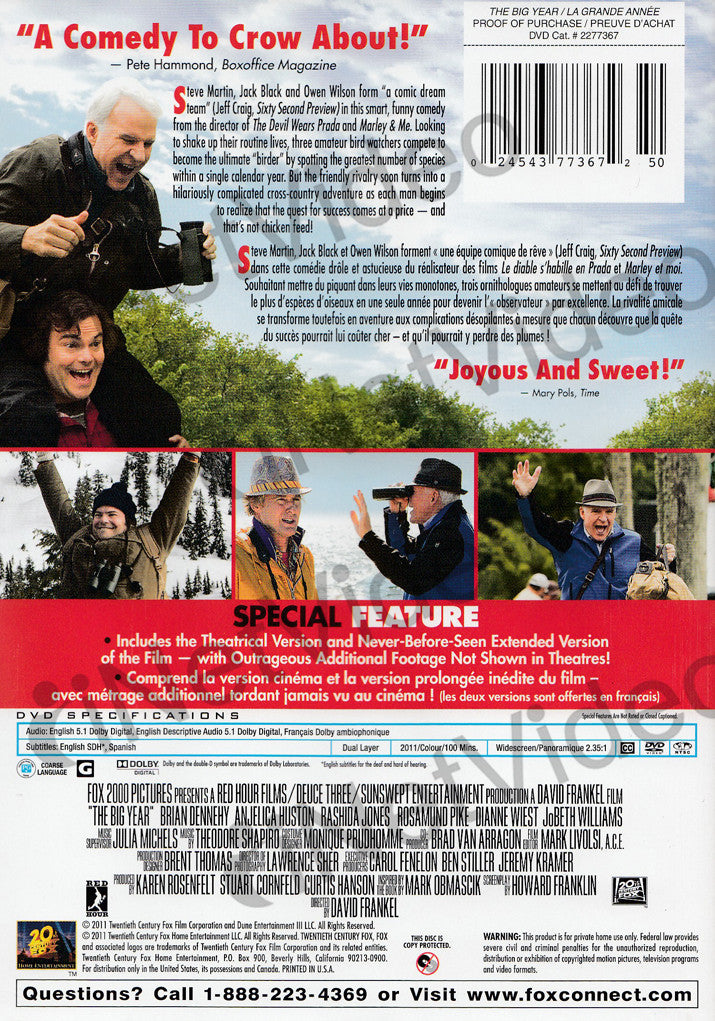 The Big Year - Movie Blu-Ray Scanned Covers - The Big Year ...  |The Big Year Dvd