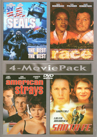 4-MoviePack US Seals Race American Strays Santa Fe DVD Movie
