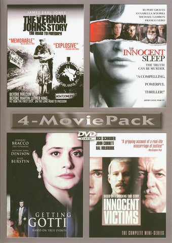 4 Movie Pack - The Vernon Johns Story, The Innocent Sleep, Getting Gotti, Innocent Victims DVD Movie