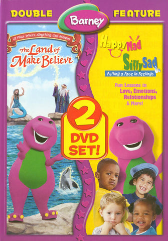 Barney - The Land of Make Believe/Happy Mad Silly Sad (Double Feature) DVD Movie