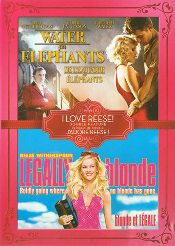 Water for Elephants/Legally Blonde (Double Feature)(Bilingual) DVD Movie