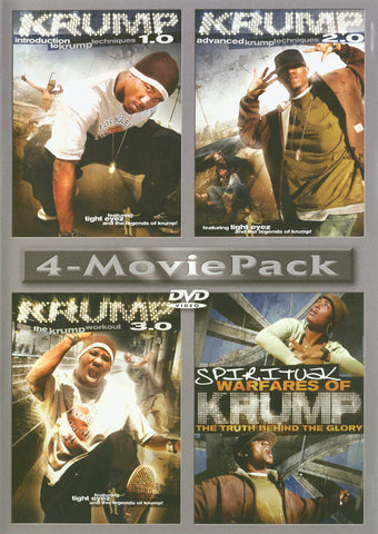 Krump 4 Movie Pack: 1.0,2.0,3.0 & Spiritual Warfares of Krump DVD Movie