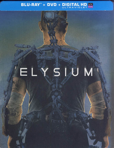 Elysium (Combo Blu-ray + DVD +UltraViolet Digital Copy) (Steelbook Case) (Blu-ray) BLU-RAY Movie
