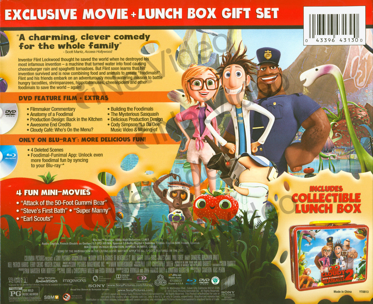 Cloudy With a Chance of Meatballs (DVD + Blu-ray + Lunchbox) (Blu