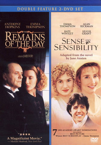 The Remains of the Day / Sense & Sensibility (Double Feature) DVD Movie