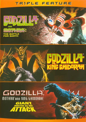 Godzilla vs. Mothra / Godzilla vs. King Ghidorah / Godzilla, Mothra, and King Ghidorah: Giant Monste DVD Movie