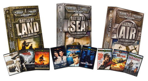 Battle Collection By Land, Sea And Air Mega Pack Collection (Boxset) DVD Movie