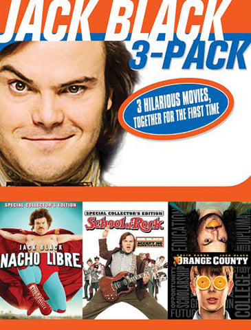 Jack Black 3 Pack (Nacho Libre / School of Rock / Orange County) (Boxset) (DO NOT ENTER) DVD Movie