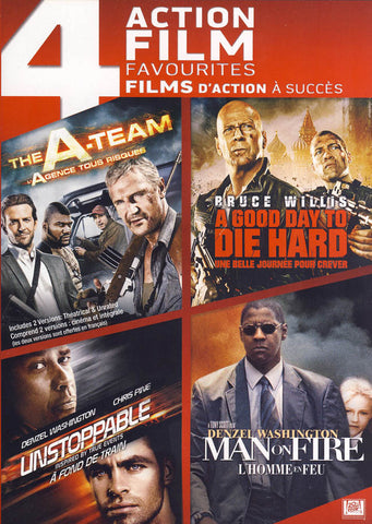 The A Team / A Good Day To Die Hard / Unstoppable / Man On Fire (Boxset) (Bilingual) DVD Movie