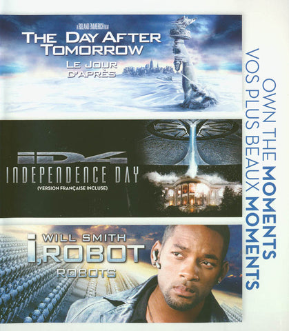 The Day After Tomorrow/Independence Day/I, Robot (Triple Feature) (Blu-ray) (Bilingual) BLU-RAY Movie