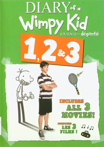 Diary of a Wimpy Kid (Journal d un degonfle) 1,2 & 3 DVD Movie