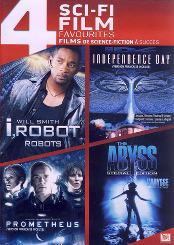 I, Robot / Independence Day/ Prometheus/ The Abyss (Bilingual) (Boxset) DVD Movie