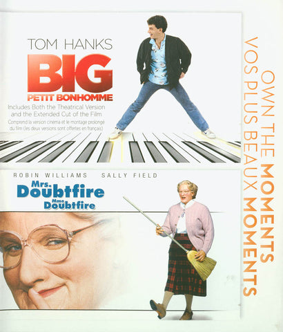 Big / Mrs Doubtfire (Own The Moments Double Feature) (Bilingual) (Blu-ray) BLU-RAY Movie