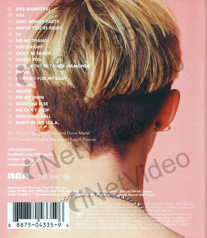 Miley Cyrus - Bangerz Tour (censored) (Blu-ray) BLU-RAY Movie