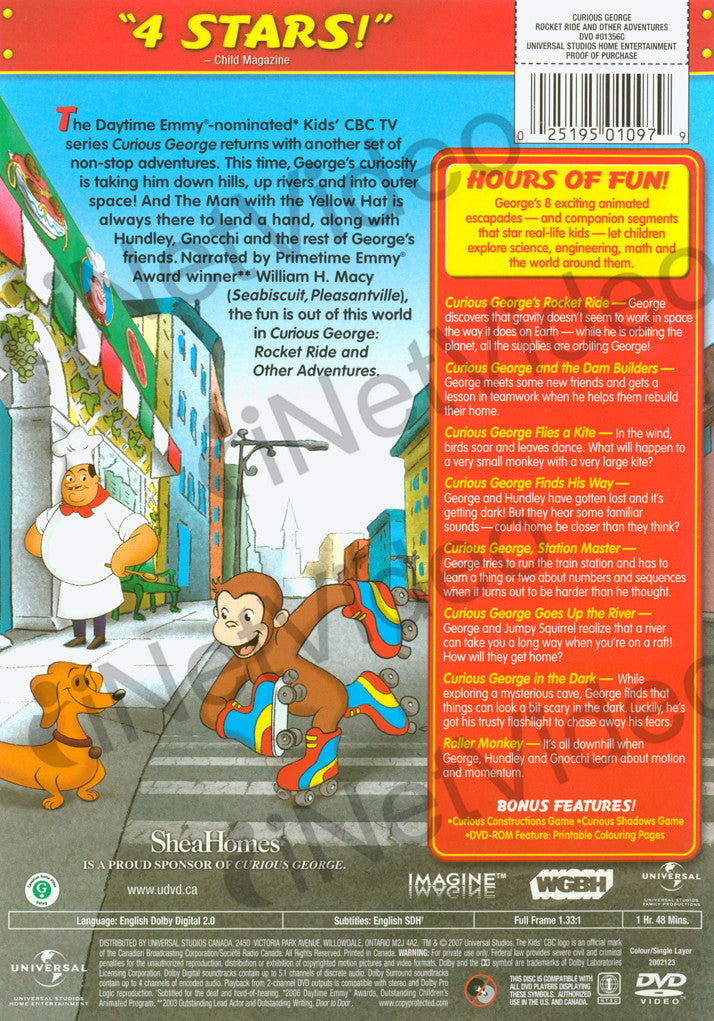 curious george rocket ride and other adventures on dvd movie