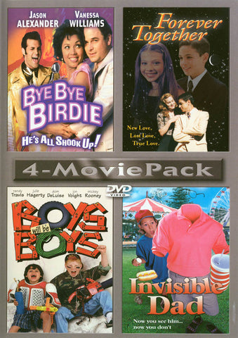 4-Movie Pack (Bye-Bye Birdie, Forever Together, Boys Will Be Boys & Invisible Dad) DVD Movie