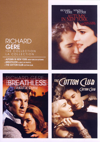 Richard Gere Collection (Autumn in New York / Breathless / The Cotton Club) (Bilingual) DVD Movie
