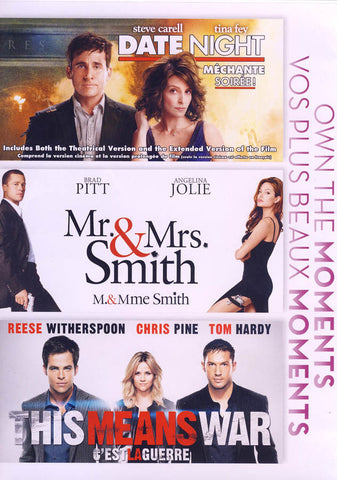 Date night / Mr & Mrs Smith / This means war (Bilingual) (Boxset) DVD Movie