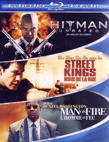 Hitman / Street Kings / Man on Fire (3 Pack) (Blu-ray) (Boxset) (Bilingual) BLU-RAY Movie