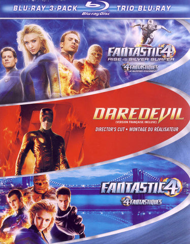 Fantastic 4 Rise of The Silver Surfer / Daredevil / Fantastic 4 (Blu-ray) (Boxset) (Bilingual) BLU-RAY Movie