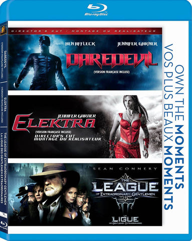 Daredevil / Elektra / The League of Extraordinary Gentlemen (Blu-ray) (Bilingual) BLU-RAY Movie