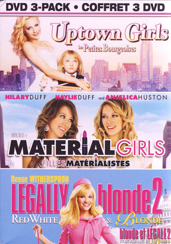Uptown Girls / Material Girls / Legally Blonde 2 (DVD 3-Pack) (Boxset) (Bilingual) DVD Movie