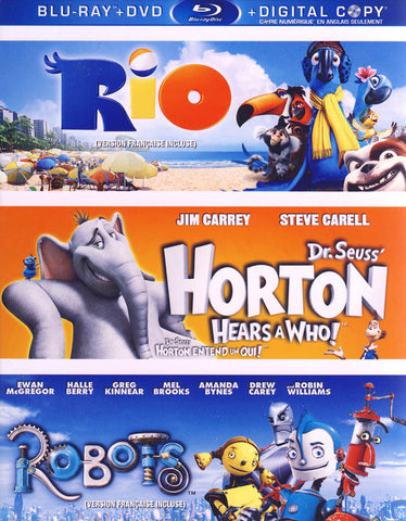 Rio / Dr. Seuss Horton Hears a Who / Robots (Blu-ray+DVD+DC) (Blu-ray) (Boxset)(Bilingual) BLU-RAY Movie