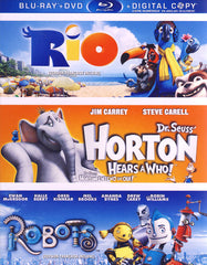 Rio / Dr. Seuss Horton Hears a Who / Robots (Blu-ray+DVD+DC) (Blu-ray) (Boxset)(Bilingual)
