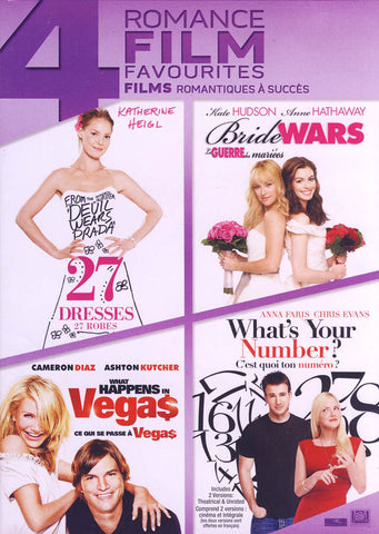 27 Dresses / Bride Wars / What Happens in Vegas / What s Your Number (Boxset) (Bilingual) DVD Movie