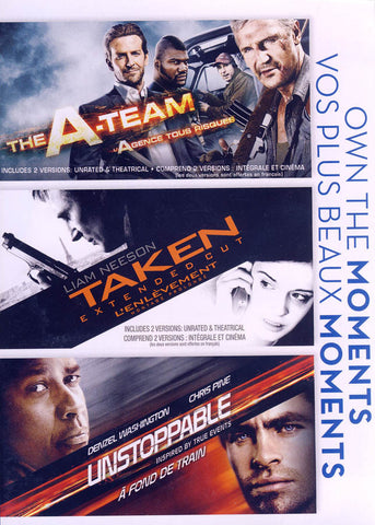 The A-Team / Taken / Unstoppable (Boxset) (Bilingual) DVD Movie
