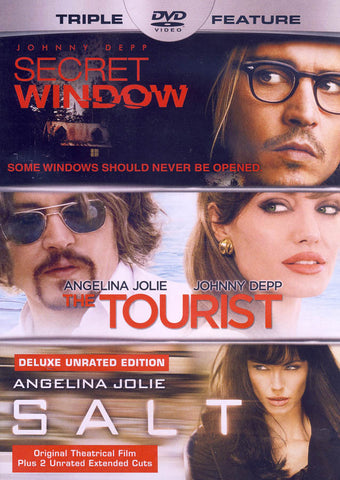 Secret Windows / The Tourist / Salt (Triple Feature) DVD Movie